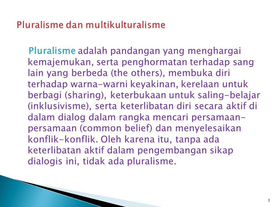 Pluralisme dan multikulturalisme
