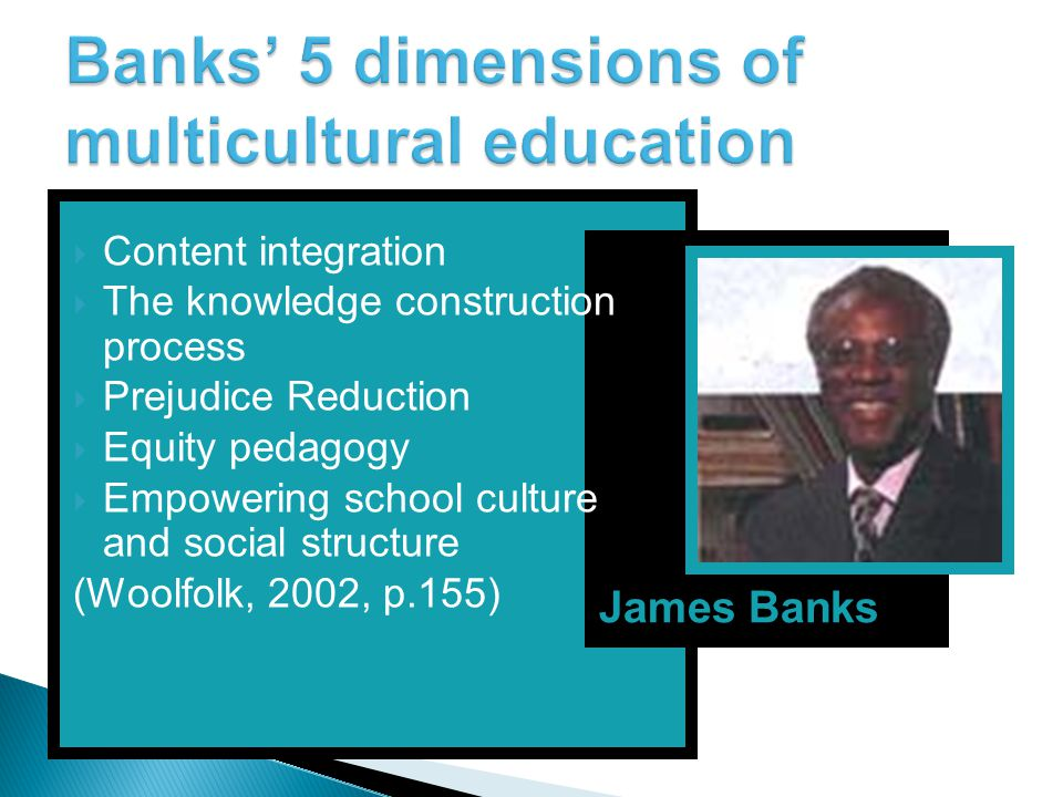Banks' 5 dimensions of multicultural education