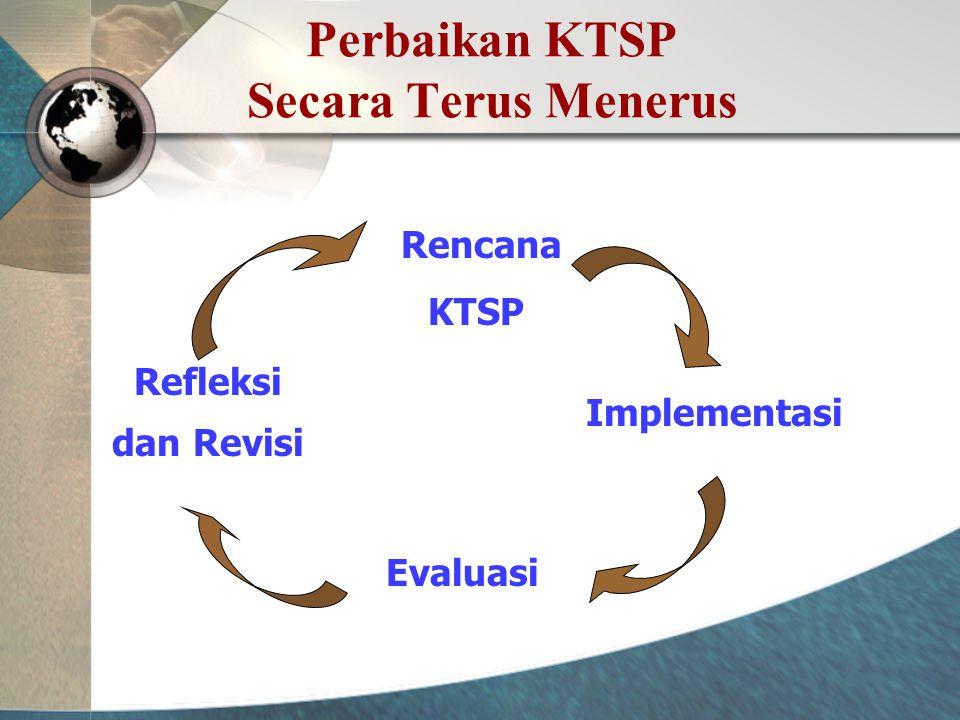 Perbaikan KTSP Secara Terus Menerus