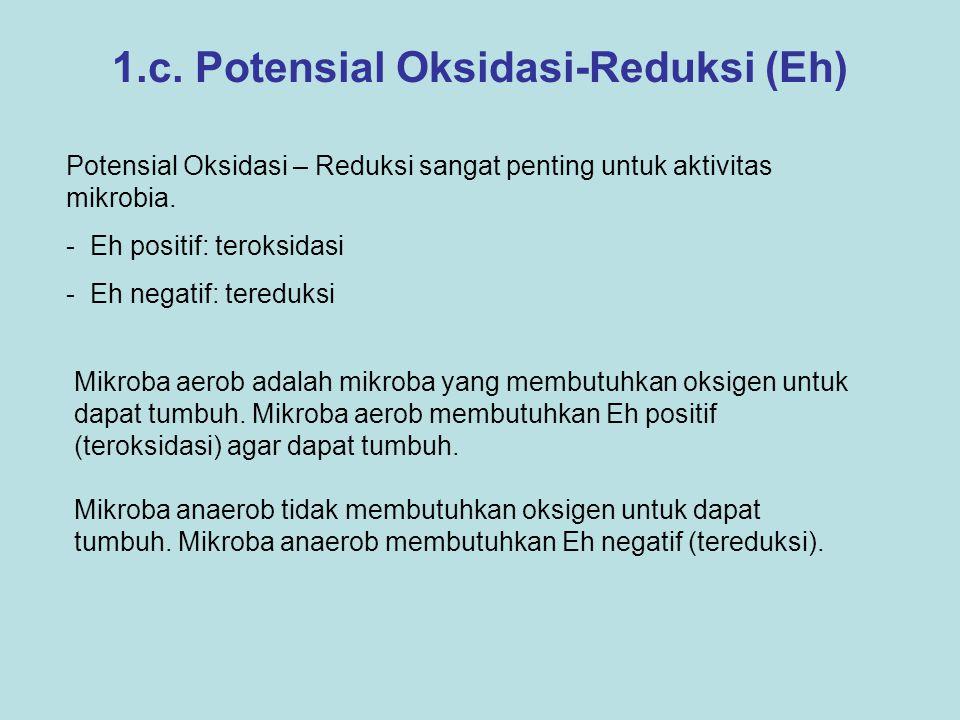1.c. Potensial Oksidasi-Reduksi (Eh)