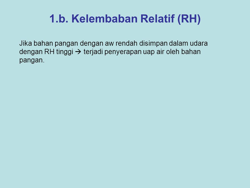 1.b. Kelembaban Relatif (RH)