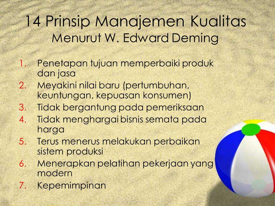14 Prinsip Manajemen Kualitas Menurut W. Edward Deming