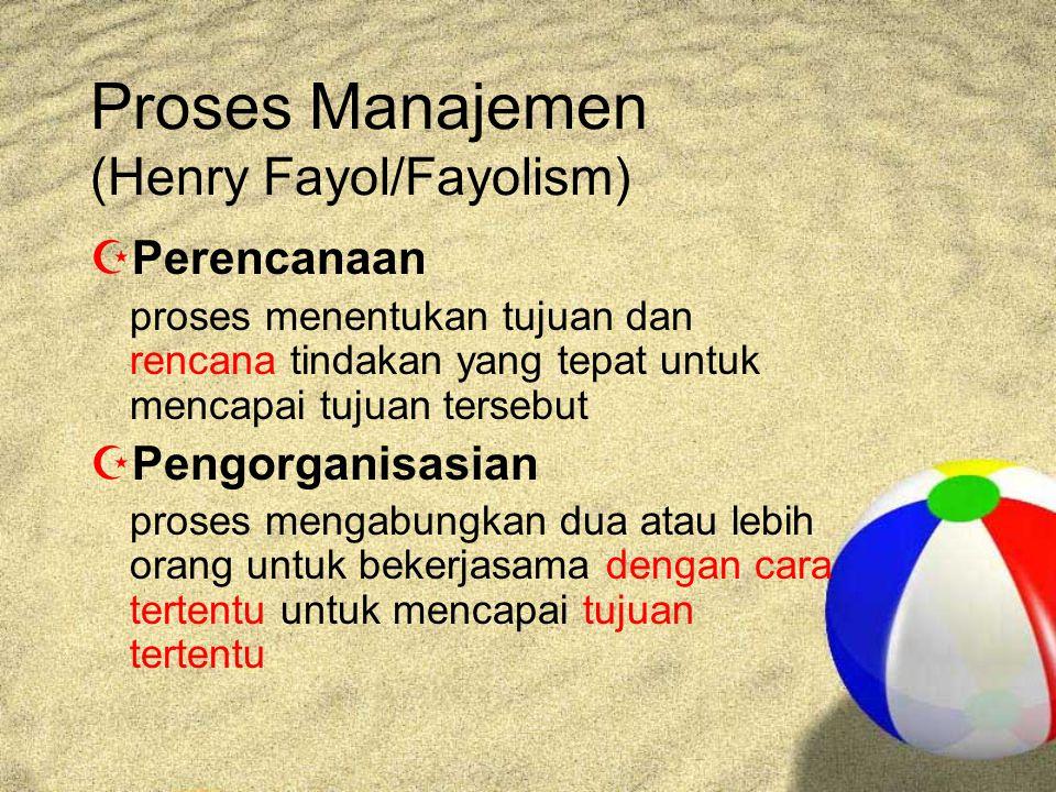 Proses Manajemen (Henry Fayol/Fayolism)