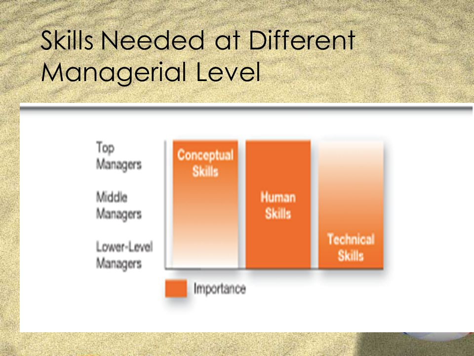 Skills Needed at Different Managerial Level