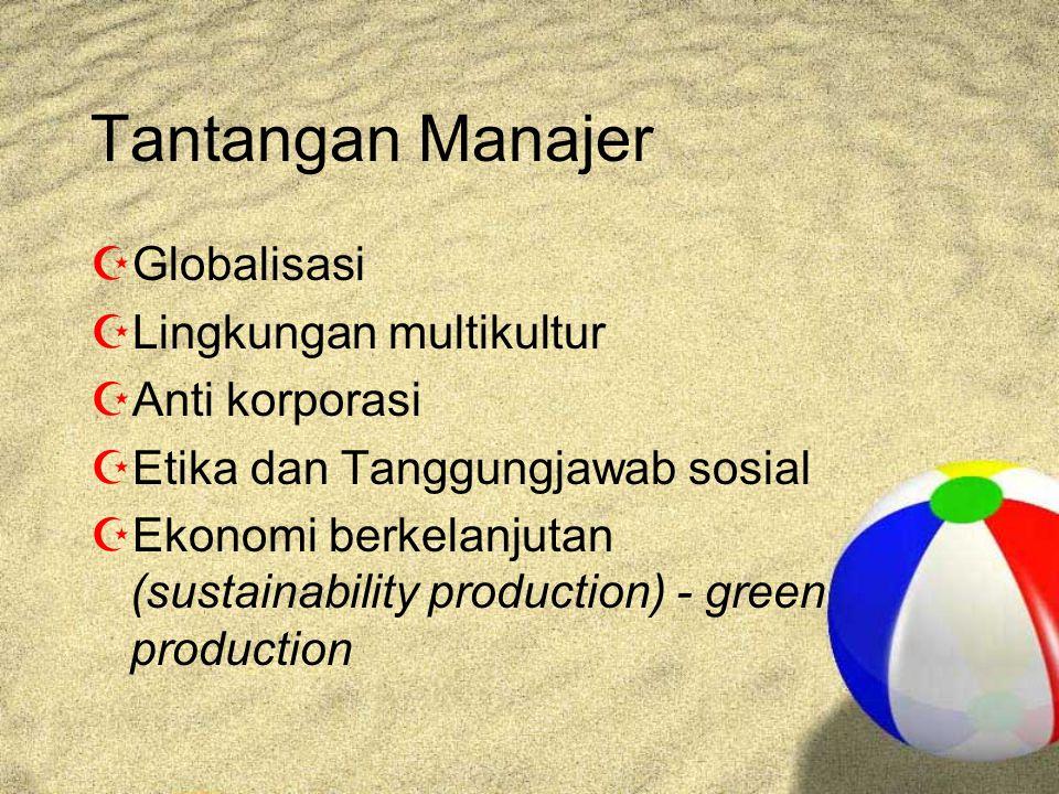 Tantangan Manajer Globalisasi Lingkungan multikultur Anti korporasi