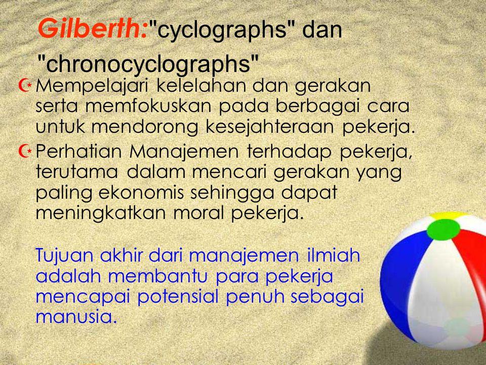 Gilberth: cyclographs dan chronocyclographs