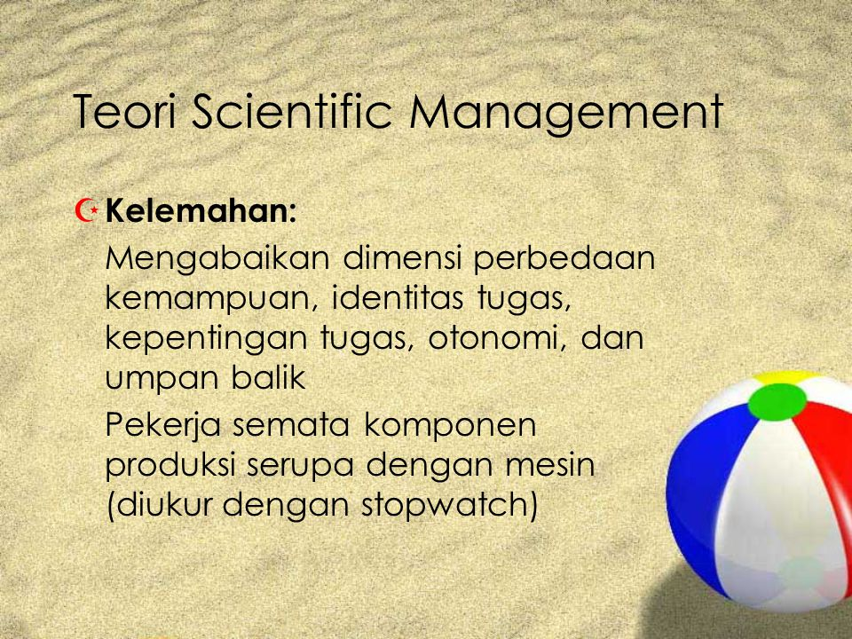 Teori Scientific Management