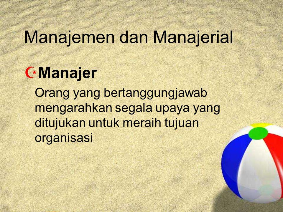 Manajemen dan Manajerial