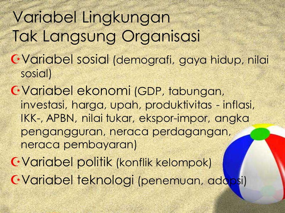 Variabel Lingkungan Tak Langsung Organisasi
