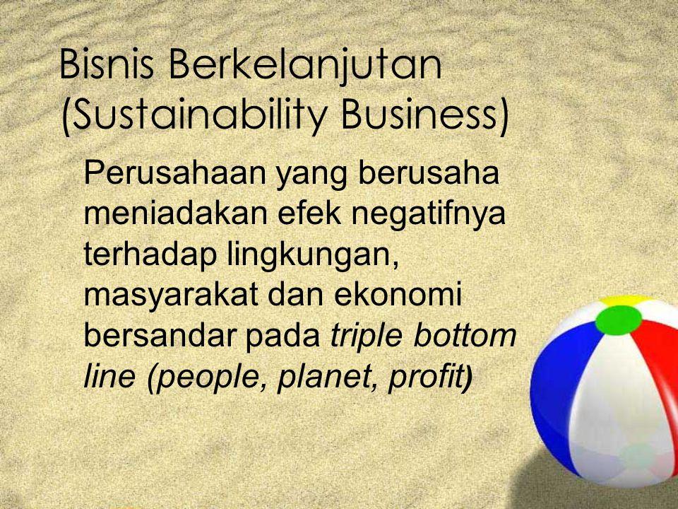 Bisnis Berkelanjutan (Sustainability Business)