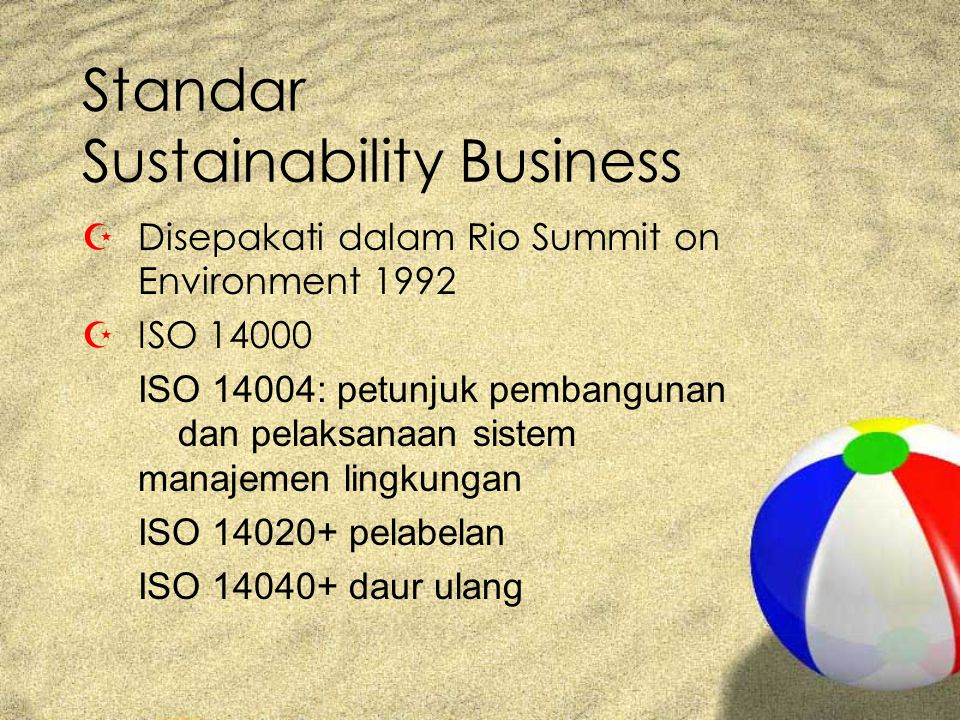 Standar Sustainability Business
