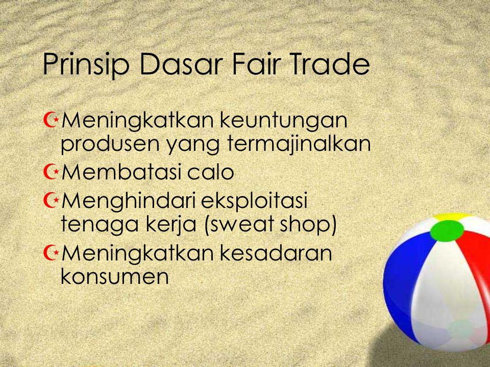 Prinsip Dasar Fair Trade