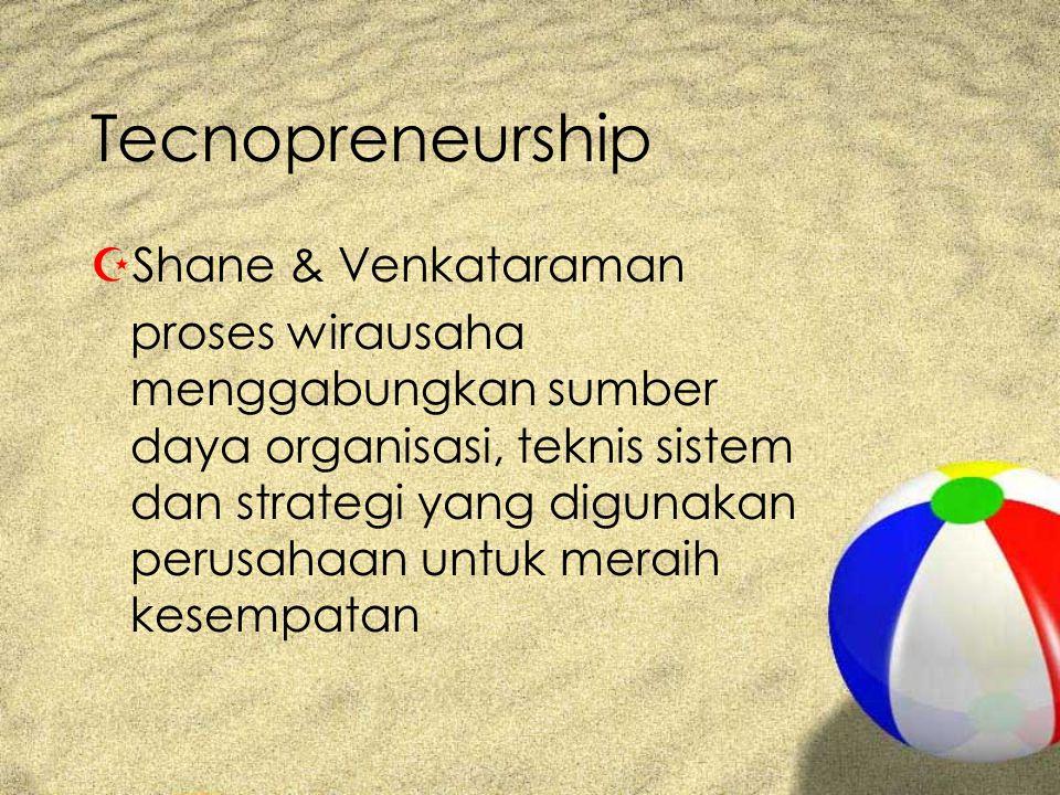 Tecnopreneurship Shane & Venkataraman
