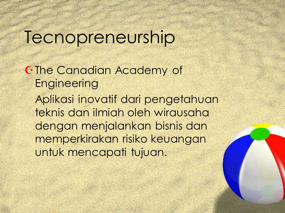 Tecnopreneurship The Canadian Academy of Engineering