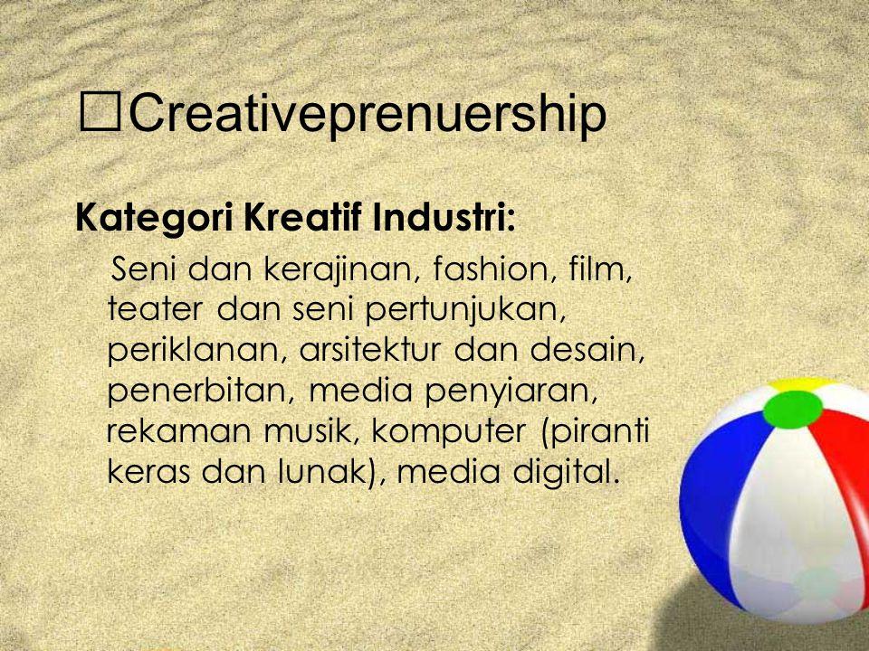 Creativeprenuership