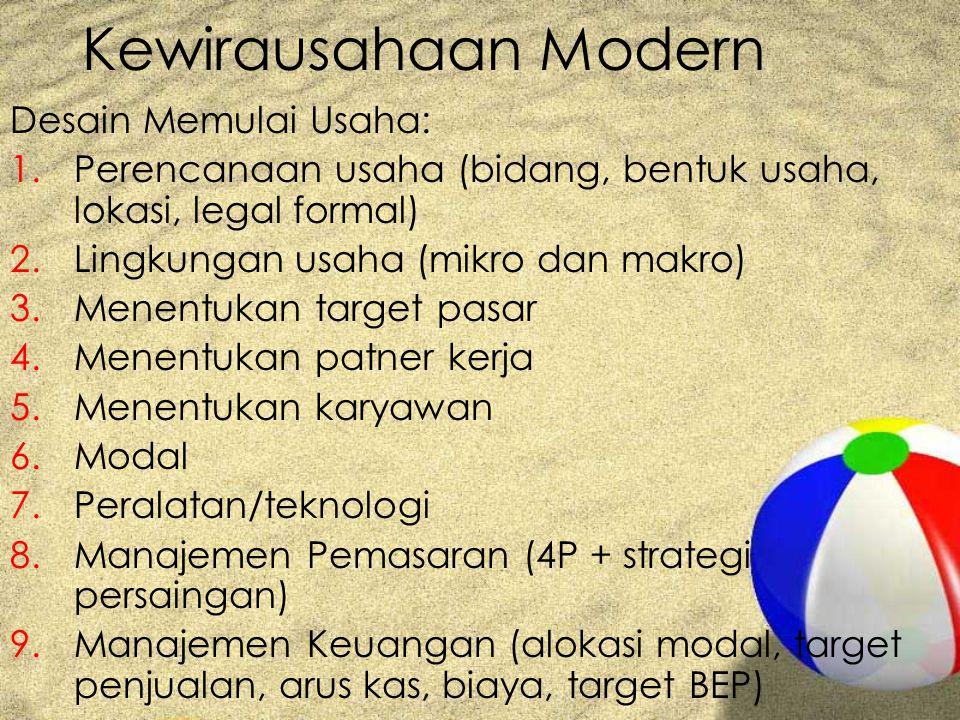 Kewirausahaan Modern Desain Memulai Usaha: