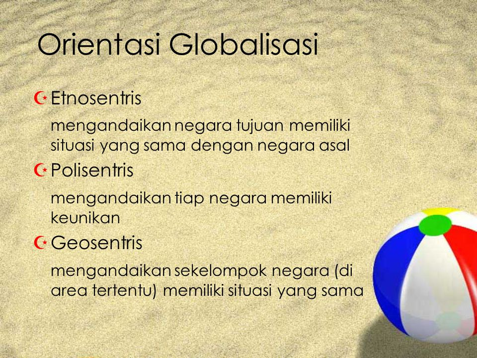 Orientasi Globalisasi