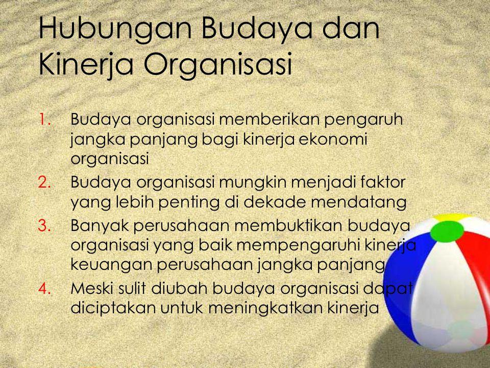 Hubungan Budaya dan Kinerja Organisasi
