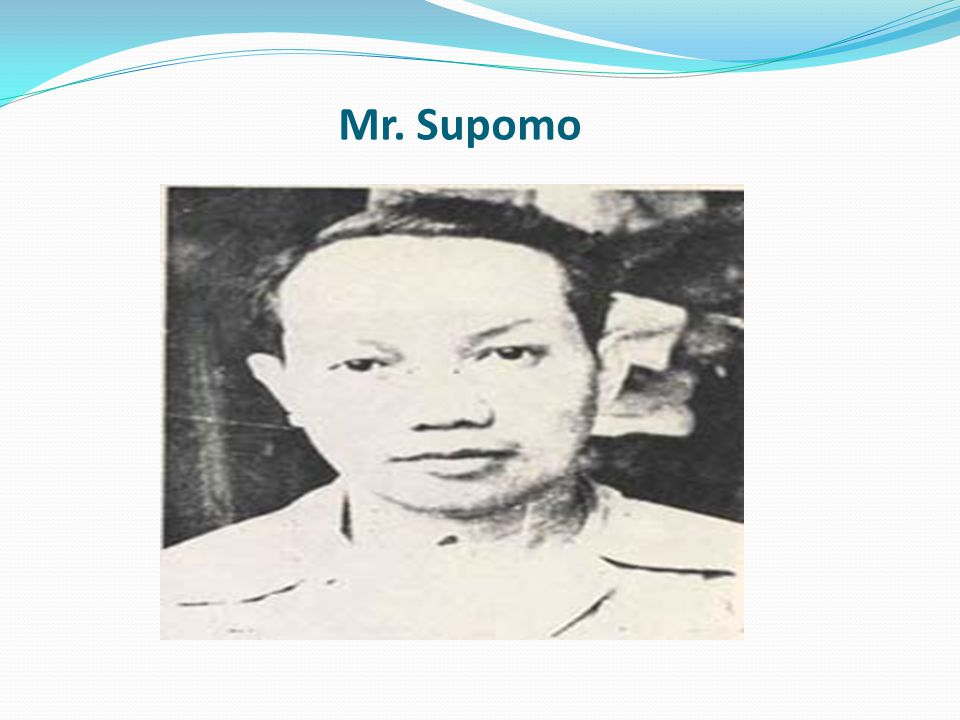 Mr. Supomo