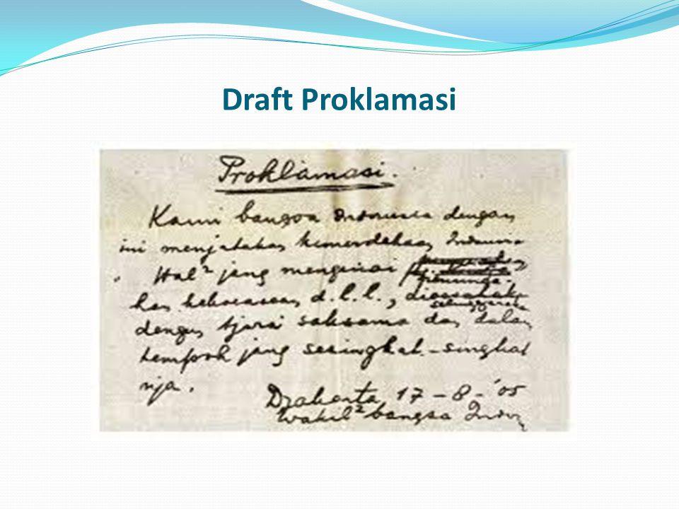 Draft Proklamasi