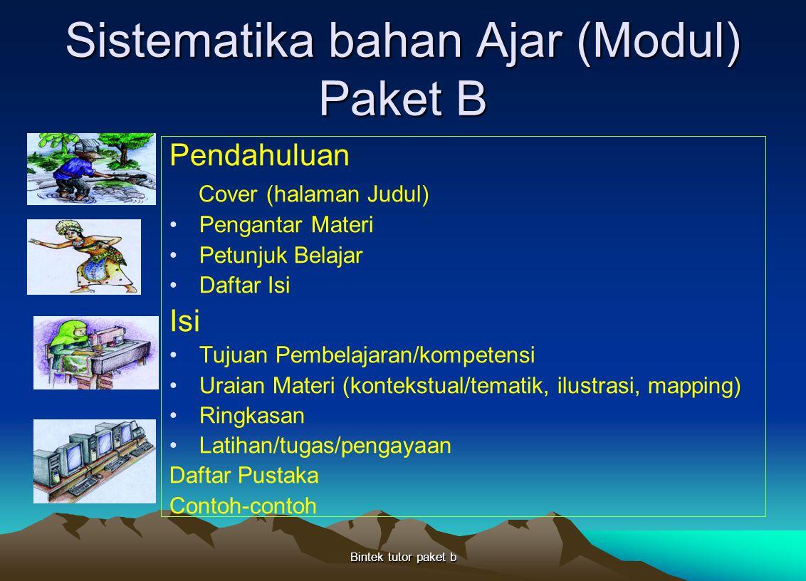 Sistematika bahan Ajar (Modul) Paket B