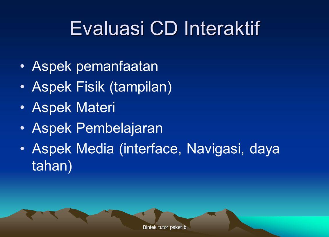 Evaluasi CD Interaktif
