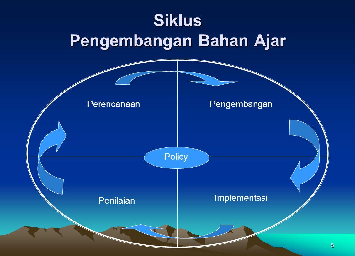 Siklus Pengembangan Bahan Ajar