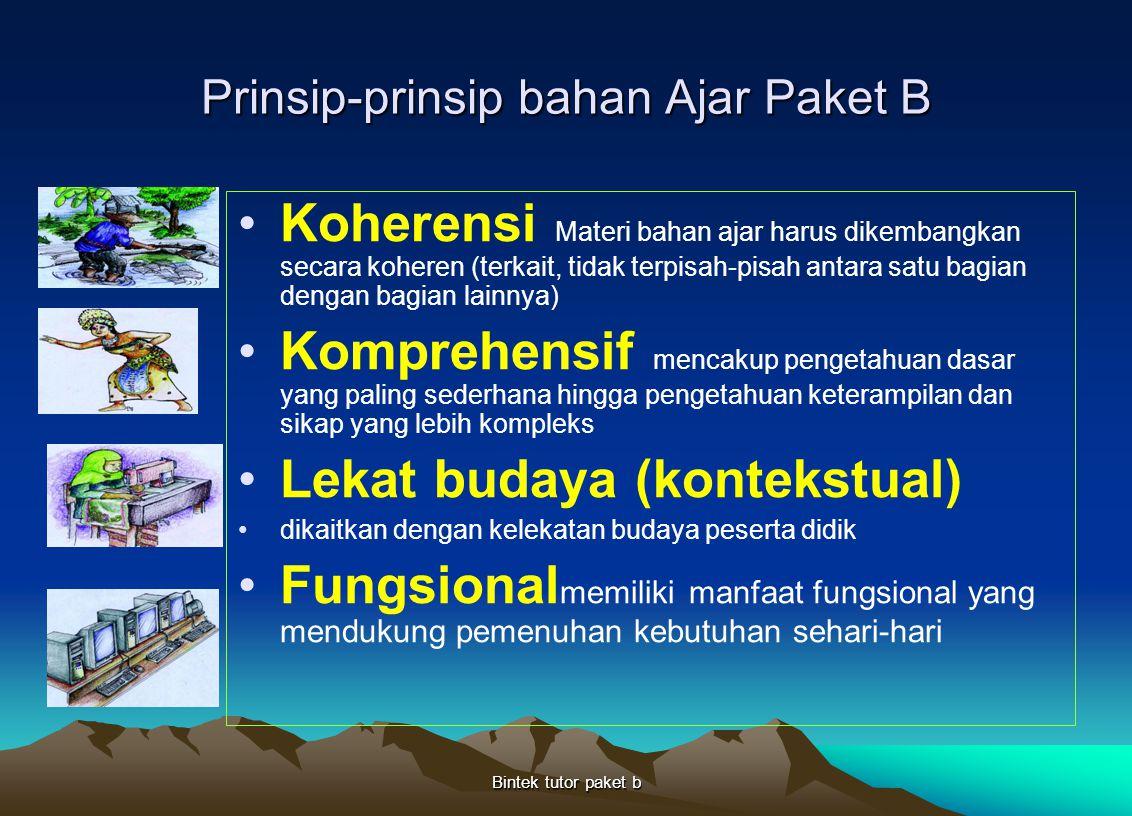 Prinsip-prinsip bahan Ajar Paket B