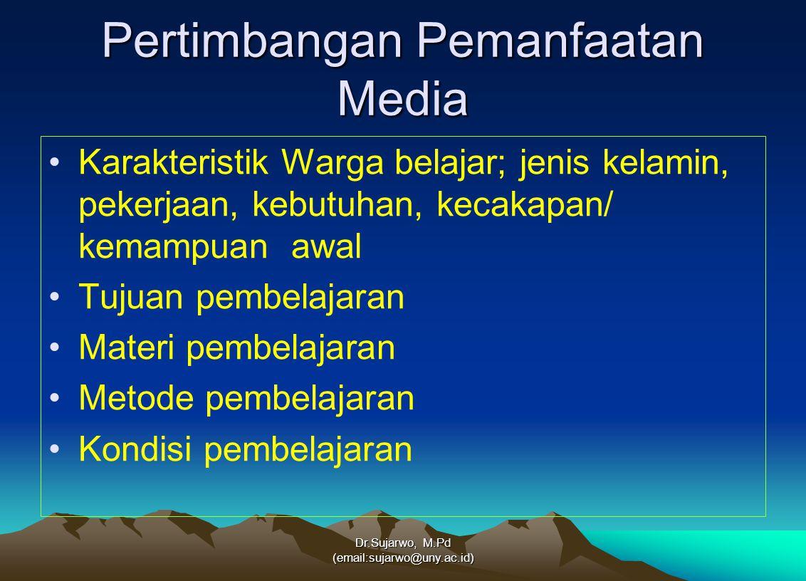 Pertimbangan Pemanfaatan Media