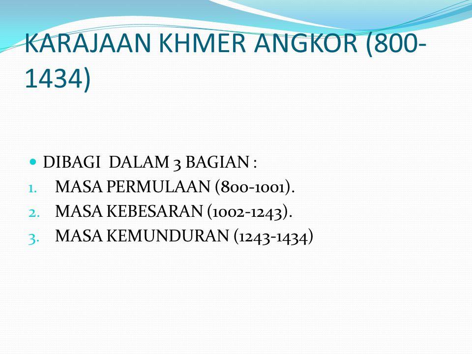 KARAJAAN KHMER ANGKOR (800-1434)