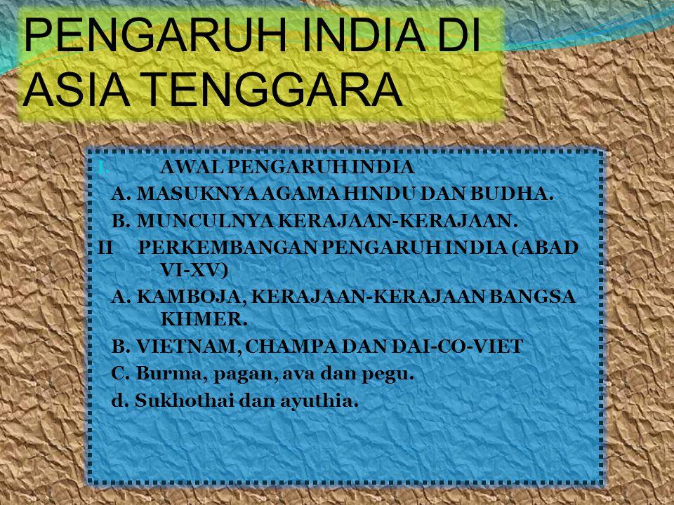 PENGARUH INDIA DI ASIA TENGGARA