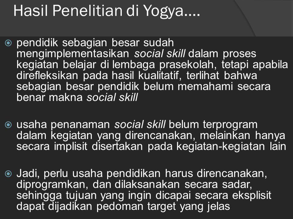 Hasil Penelitian di Yogya….