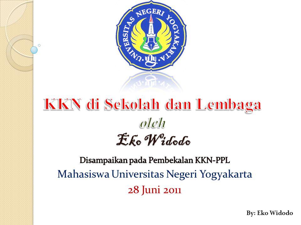 KKN di Sekolah dan Lembaga oleh Eko Widodo