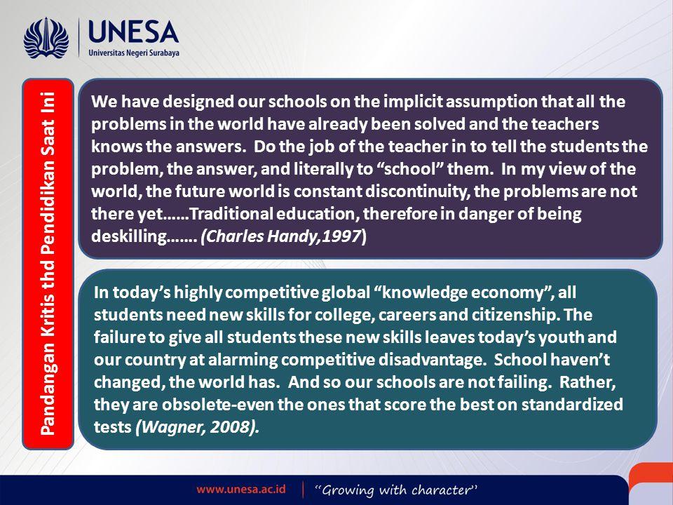 Pandangan Kritis thd Pendidikan Saat Ini