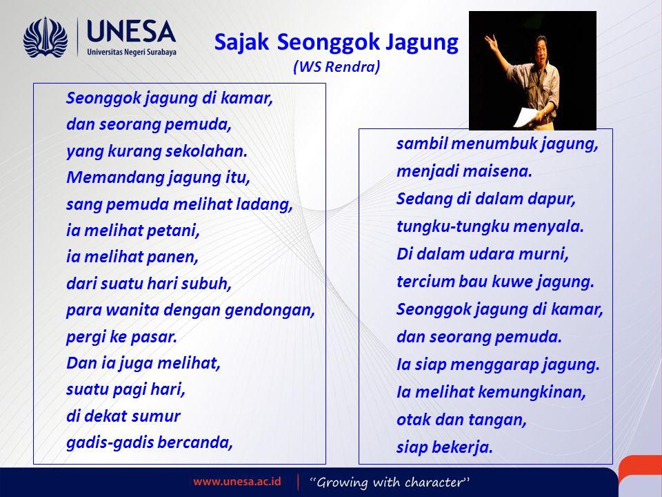 Sajak Seonggok Jagung (WS Rendra)