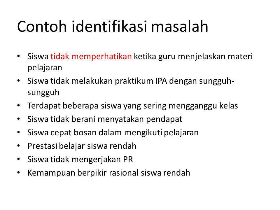 Contoh identifikasi masalah