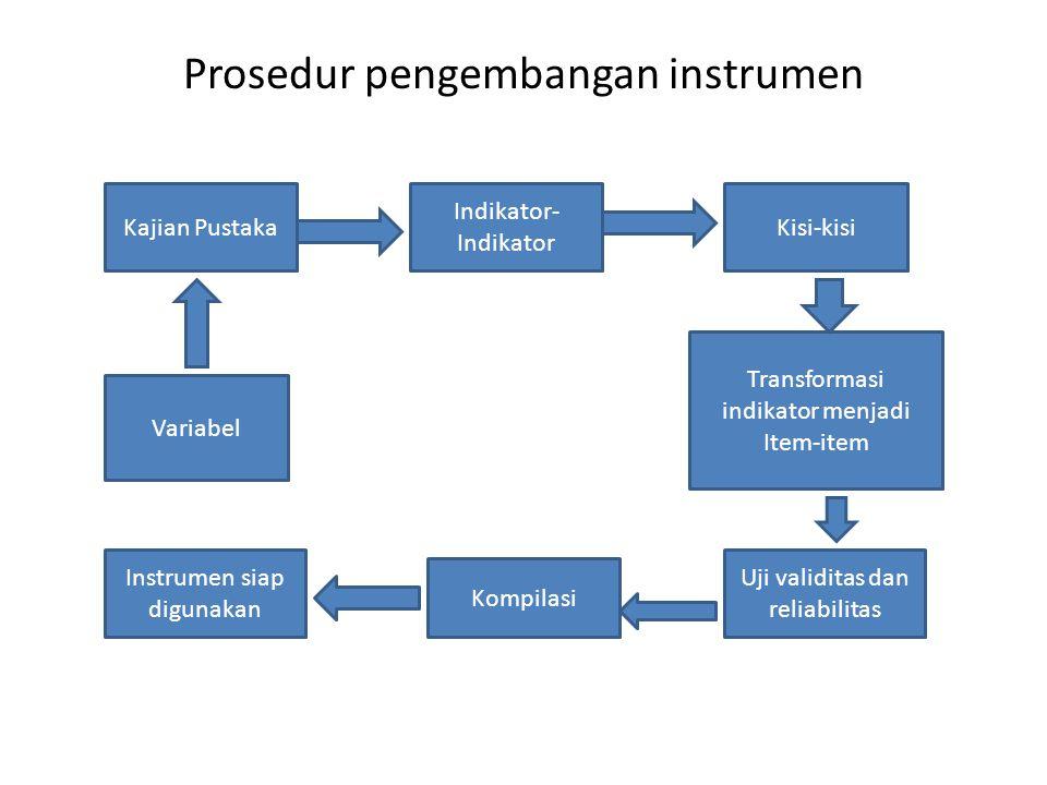 Prosedur pengembangan instrumen