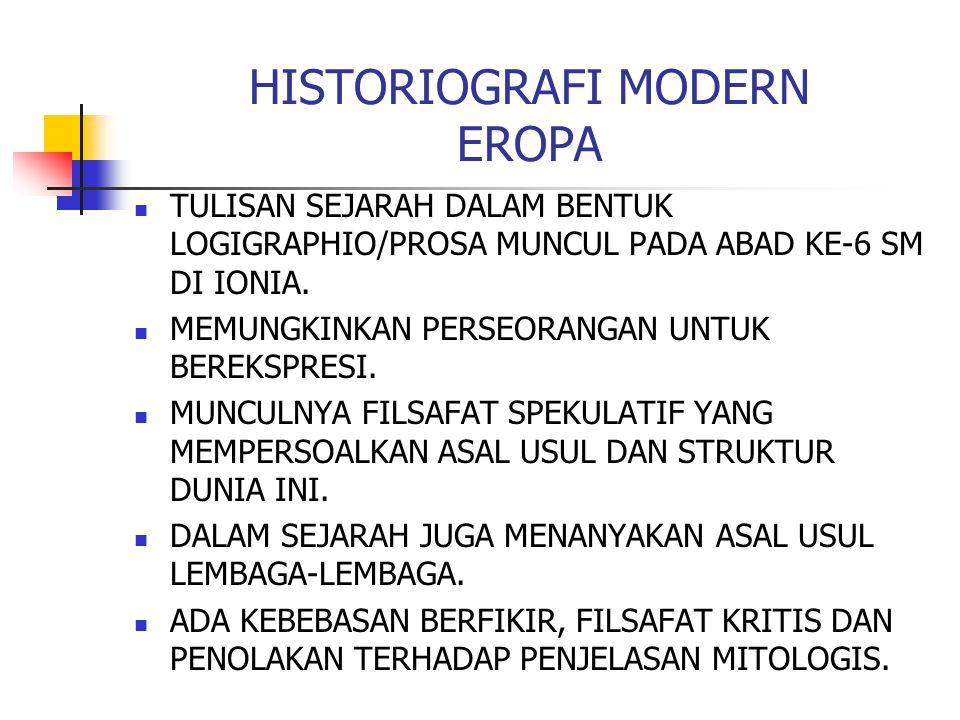 HISTORIOGRAFI MODERN EROPA
