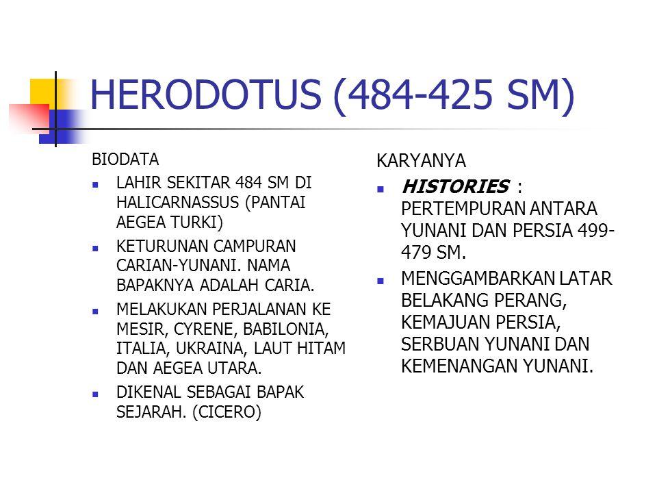 HERODOTUS (484-425 SM) KARYANYA