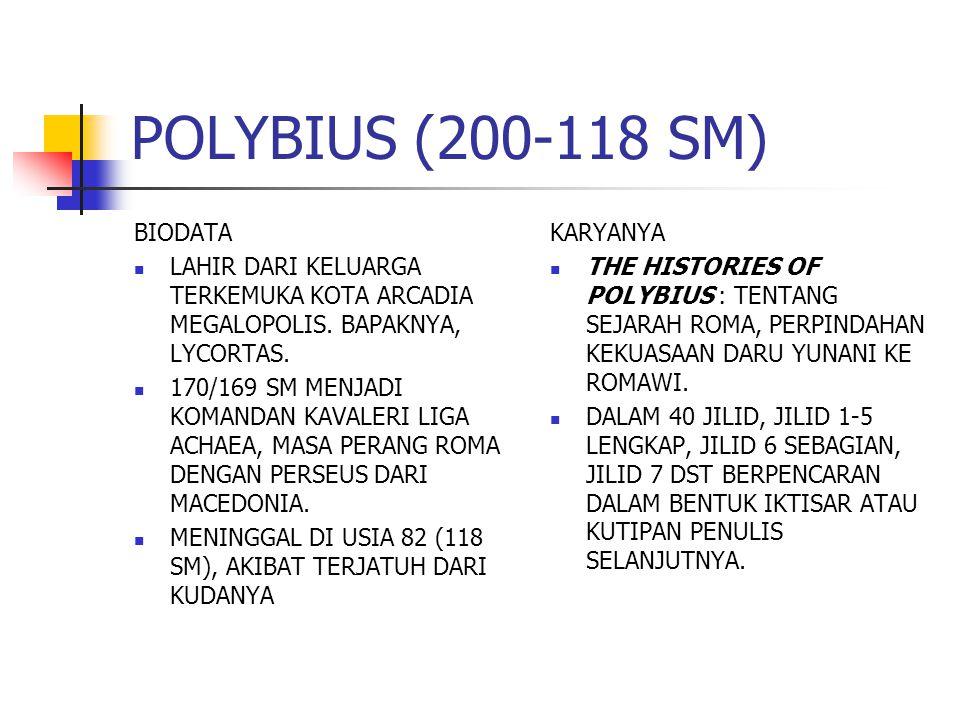 POLYBIUS (200-118 SM) BIODATA