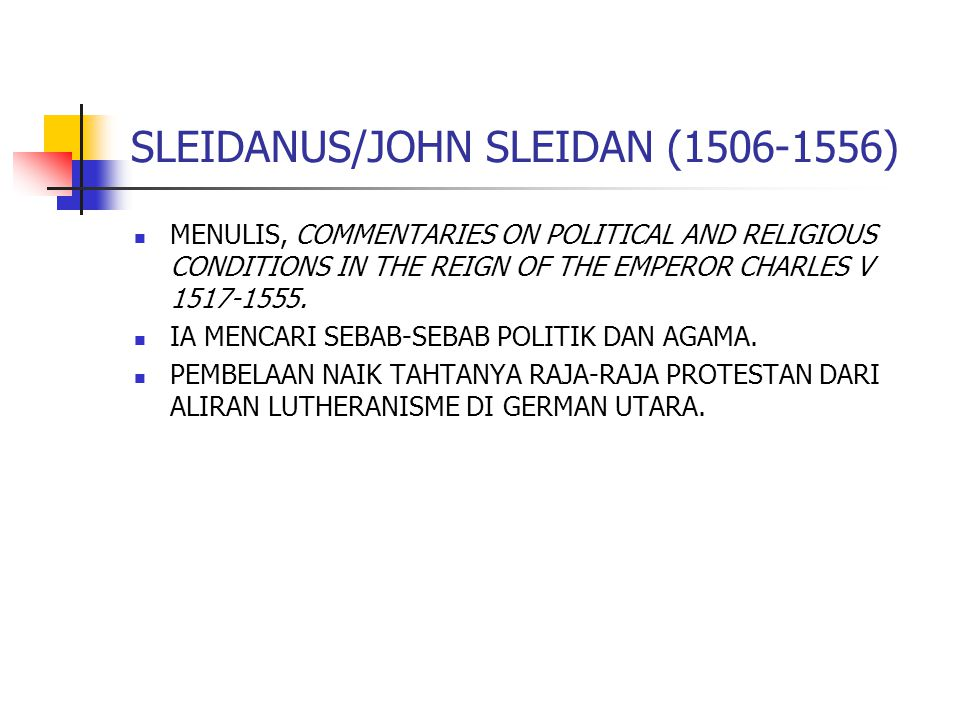 SLEIDANUS/JOHN SLEIDAN (1506-1556)