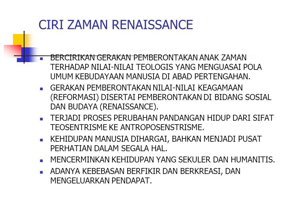CIRI ZAMAN RENAISSANCE