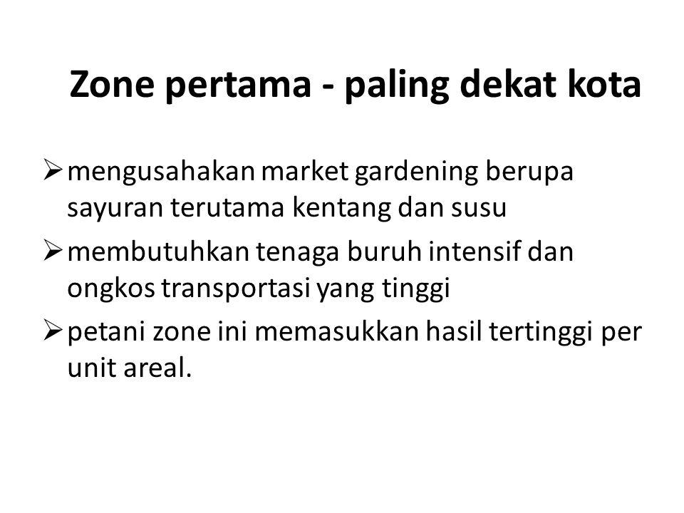 Zone pertama - paling dekat kota