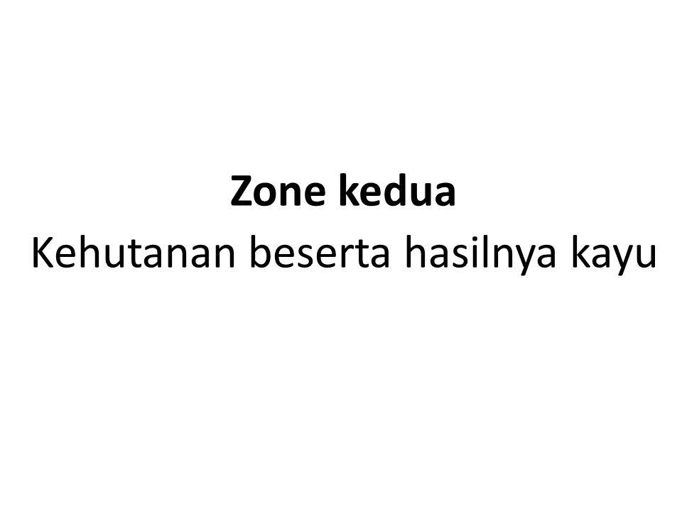 Zone kedua Kehutanan beserta hasilnya kayu
