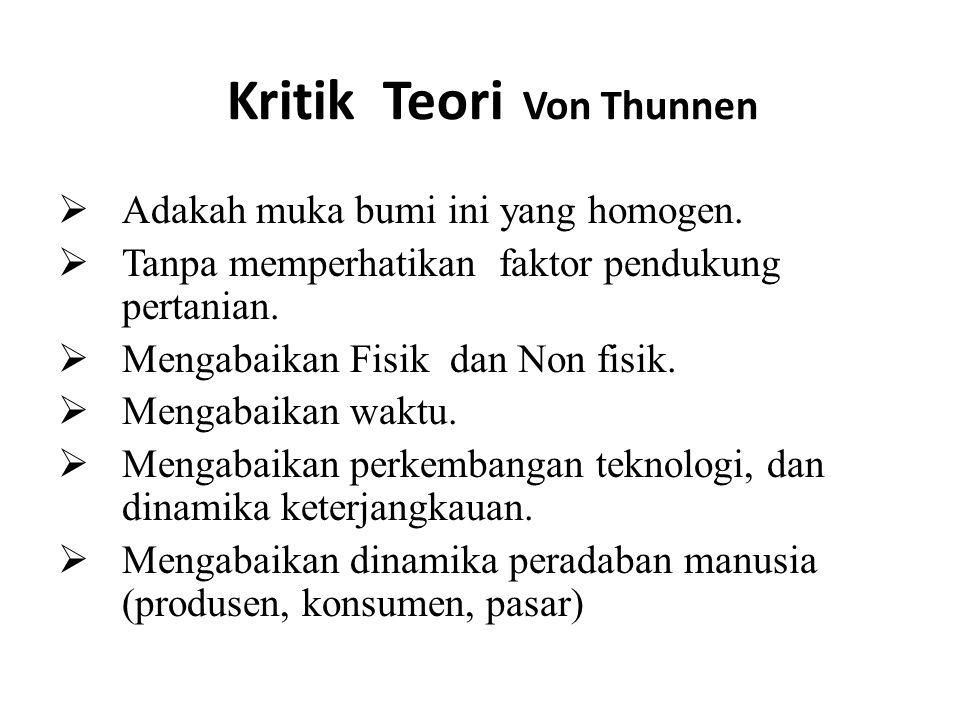 Kritik Teori Von Thunnen
