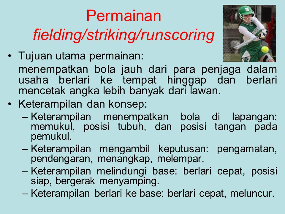 Permainan fielding/striking/runscoring