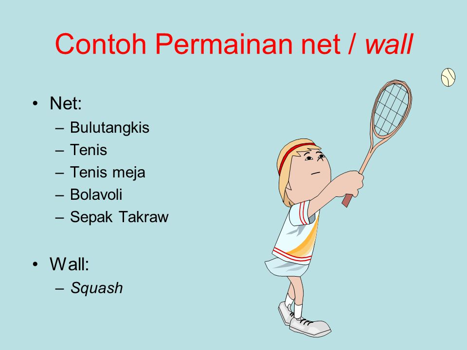 Contoh Permainan net / wall