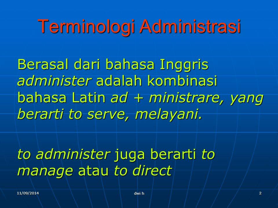 Terminologi Administrasi