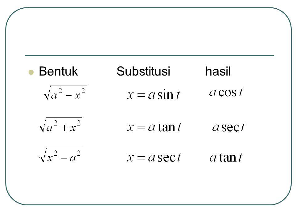 Bentuk Substitusi hasil