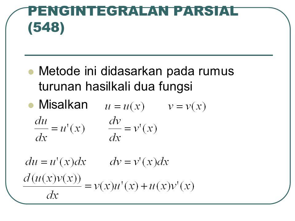 PENGINTEGRALAN PARSIAL (548)